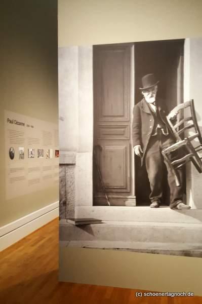 """Porträt von Paul Cezanne in der Ausstellung """"Metamorphosen"""" in der Kunsthalle Karlsruhe"""