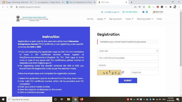 New Csc Registration Status Apply New CSC Center Online 2020