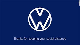 لوجو VolksWagen في زمن الكورونا