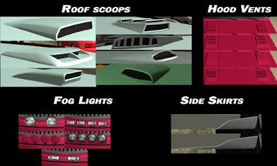 GTA San Andreas Car Tuning Parts Mods With Cheat Menu