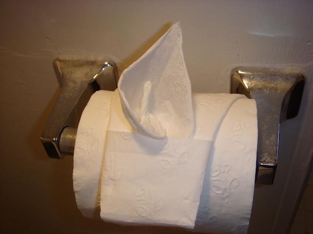 как сделать оригами на туалетной бумаге,