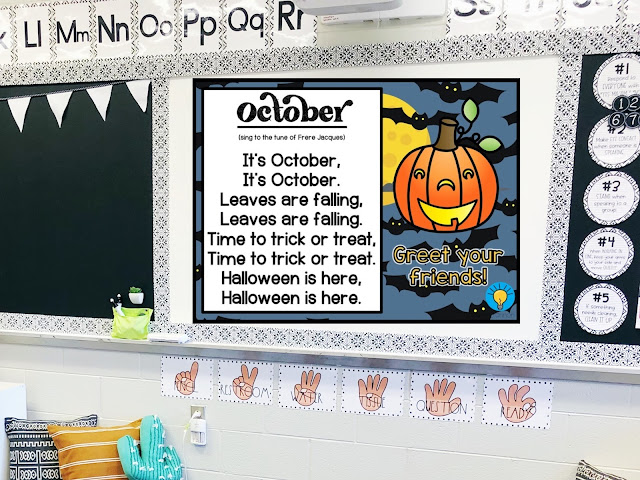 October morning meeting activities