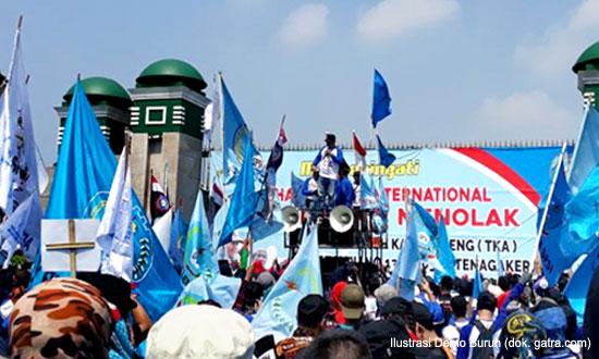 Tolak UU Cipta Kerja, Jutaan Buruh Berencana Mogok Nasional Mulai Hari Ini