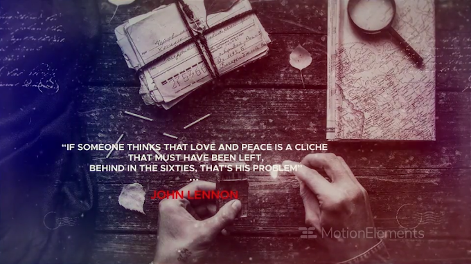 Historical Quotes - Slideshow : After Effects Template