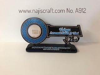 A912 TONGA 21ST KEY 70CM - SKY BLUE NAME