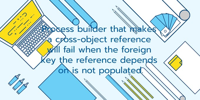 Process builder that makes a cross-object reference will fail when the foreign key (i.e. relationship field) the reference depends on is not populated.