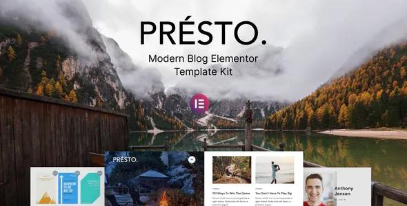 Best Modern Blog Elementor Template Kit
