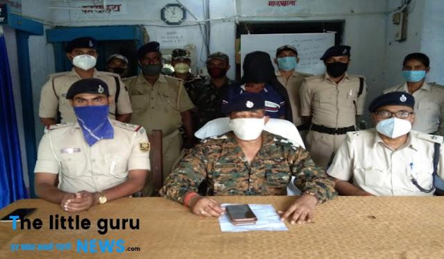 कुख्यात नक्सली गिरफ़्तार, रेलवे ट्रैक उड़ाने सहित कई अन्य जघन्य मामलों में था वांछित