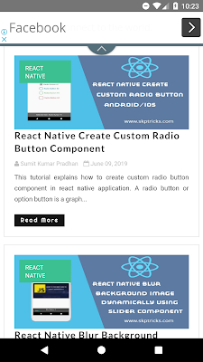 React Native WebView