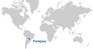 Gambar Peta letak Paraguay