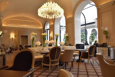 Intérieur restaurant le George (8 -ème), blog Délices à Paris.