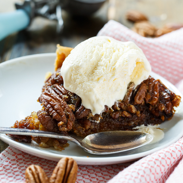 Crock Pot Pecan Pie recipe from Spicy Southern Kitchen
