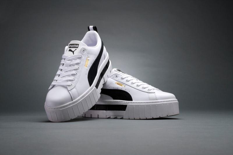 PUMA Mayze sneaker in white.
