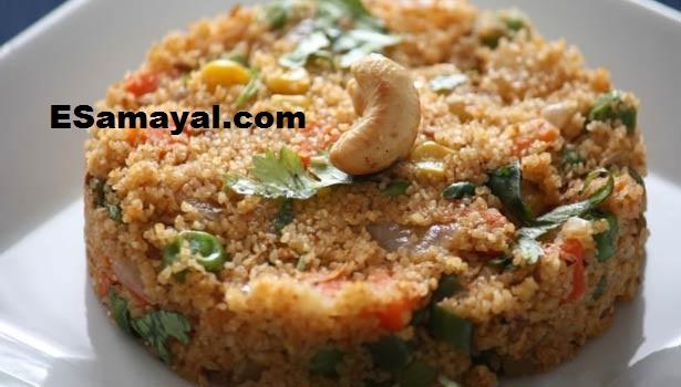 கோதுமை ரவை புலாவ் செய்வது   Wheat Rava Pulau Recipe !