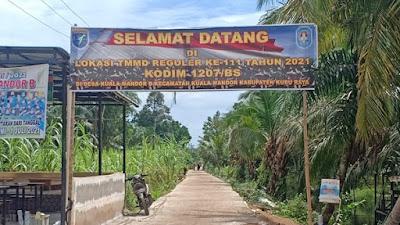 Dusun Maju Jaya Kembali Sepi Setelah Ditinggal Pulang Satgas TMMD Ke-111 Kodim 1207/Pontianak