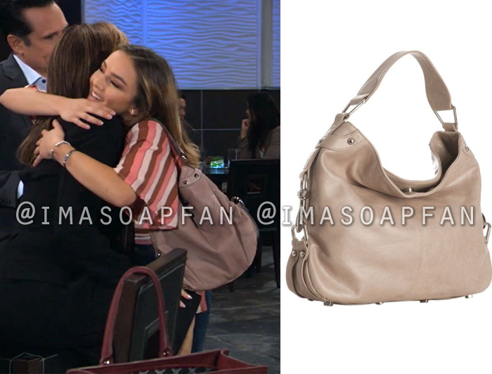 94126c83f2369e Kristina Corinthos Davis s Taupe Hobo Bag - General Hospital