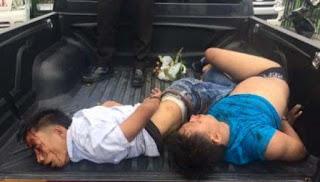 Dua Perampok Bersenjata Api Gagal Rampok Nasabah Bank Dihajar Massa