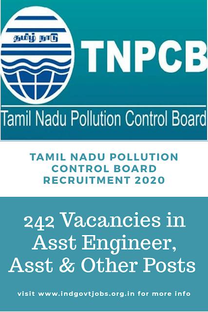 TNPCB Rcruitment 2020
