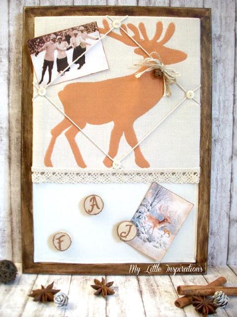 Memo board magnetica imbottita personalizzata - memo finita e decorata con cartoline - MLI