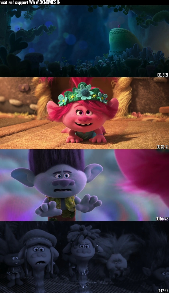 Trolls World Tour 2020 Dual Audio Hindi 720p BluRay 750mb