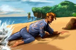 Fábula de el Naufrago y el Mar con enseñanza y moraleja