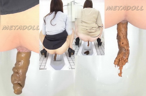 [FF-113] Girls come to public wc to get shot on the spy cam. Poop on her high heels