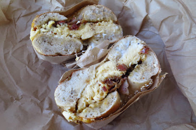 Two Men Bagel House, bacon egg cheese rye