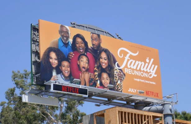 Family Reunion series launch billboard