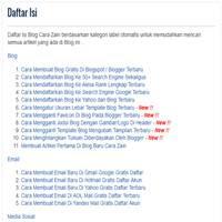 Cara Membuat Daftar Isi Di Blog Otomatis Menurut Label