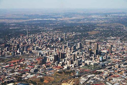 imagem aérea de Joanesburgo