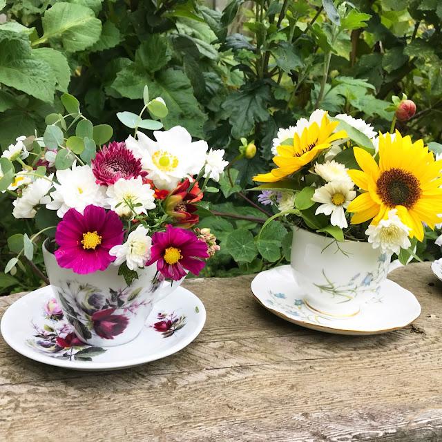 DIY Garden Flower Arrangement