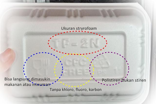 lambang di styrofoam
