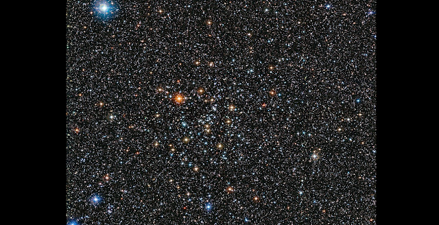 This rich view of a tapestry of colourful stars was captured by the Wide Field Imager (WFI) camera, on the MPG/ESO 2.2-metre telescope at ESO's La Silla Observatory in Chile. It shows a open cluster of stars known as IC 4651, a stellar grouping that lies at in the constellation of Ara (The Altar). Credit: ESO