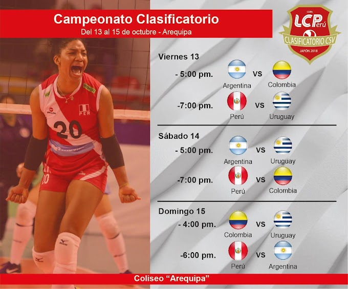 Campeonato Clasificatorio de Voley Mayores en Arequipa
