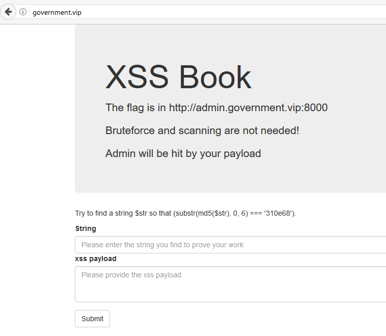 Dragon Sector: 0CTF 2017 - complicated xss (web 177)