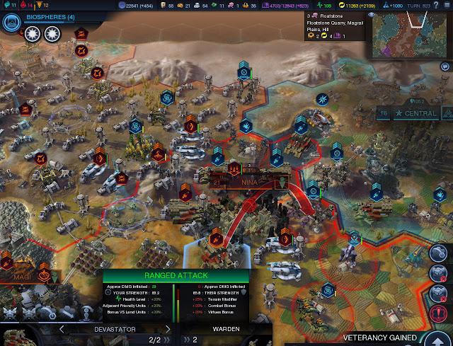 Civilization: Beyond Earth screenshot - insane town siege