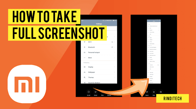 How to capture full long screenshot on Xiaomi Smartphone