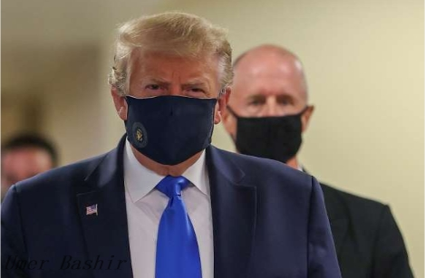 Earlier, Trump Visited A Military Medical Facility