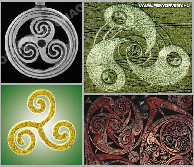 Hasonlóságok: Triskele szimbólum