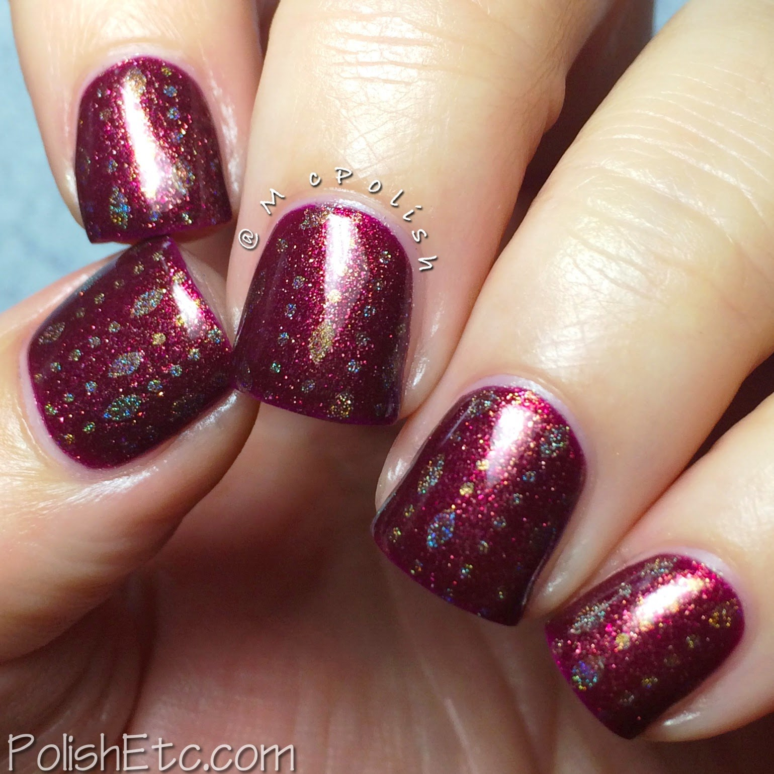 Cirque Color - Arcane Fire and Harlow stamping- McPolish