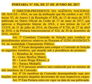Concurso Agência Nacional de Águas 2017