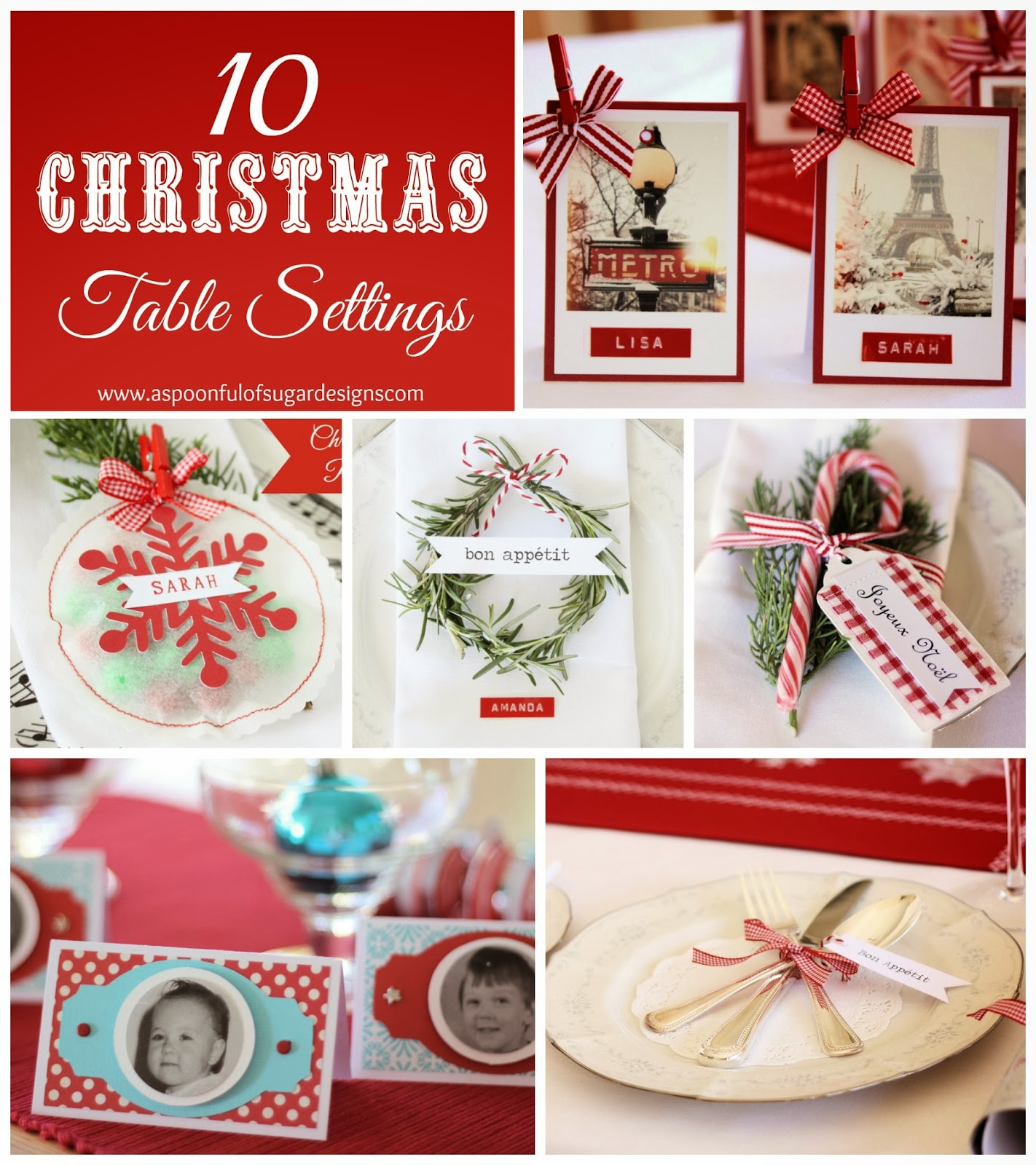 Holiday Place Settings: Christmas Table Place Settings & Thanksgiving Table More