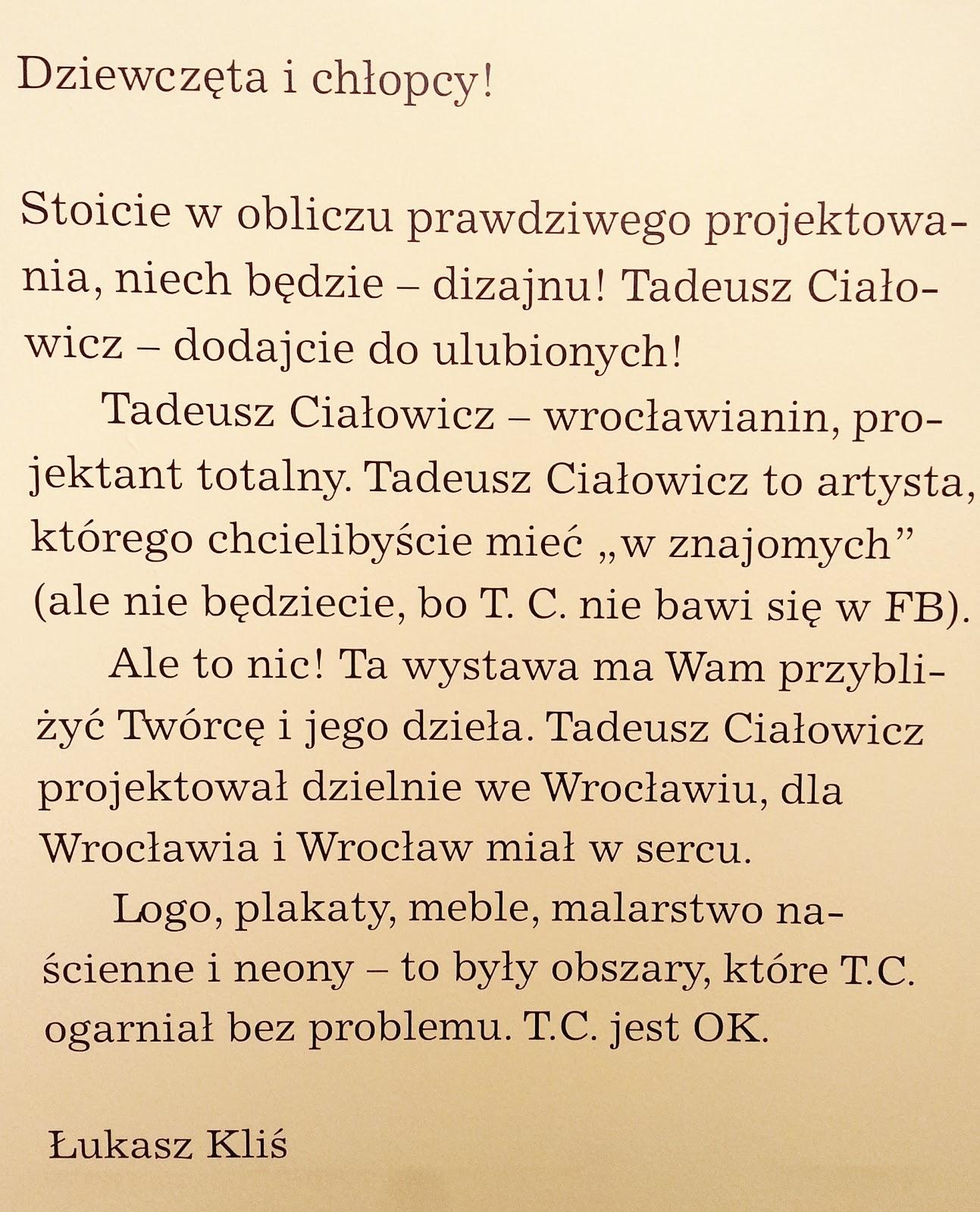 Ciałowicz. Projektant z Wrocławia