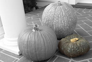 October Porch Pumpkins