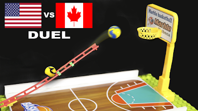 MARBLE BASKETBALL DUEL - USA vs CANAD