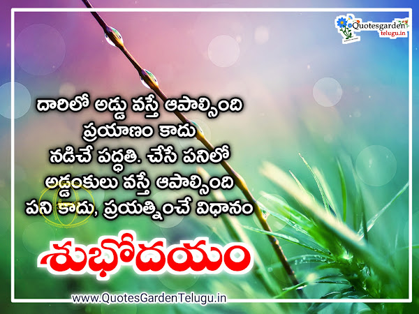 Inspirational Good morning quotes in telugu images-Life -Great -Experience -Nature- Good