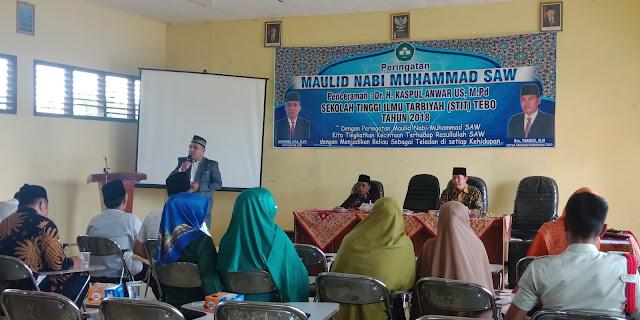 Maulid Nabi Muhammad SAW, STIT Tebo Undang H Kasful Anwar US