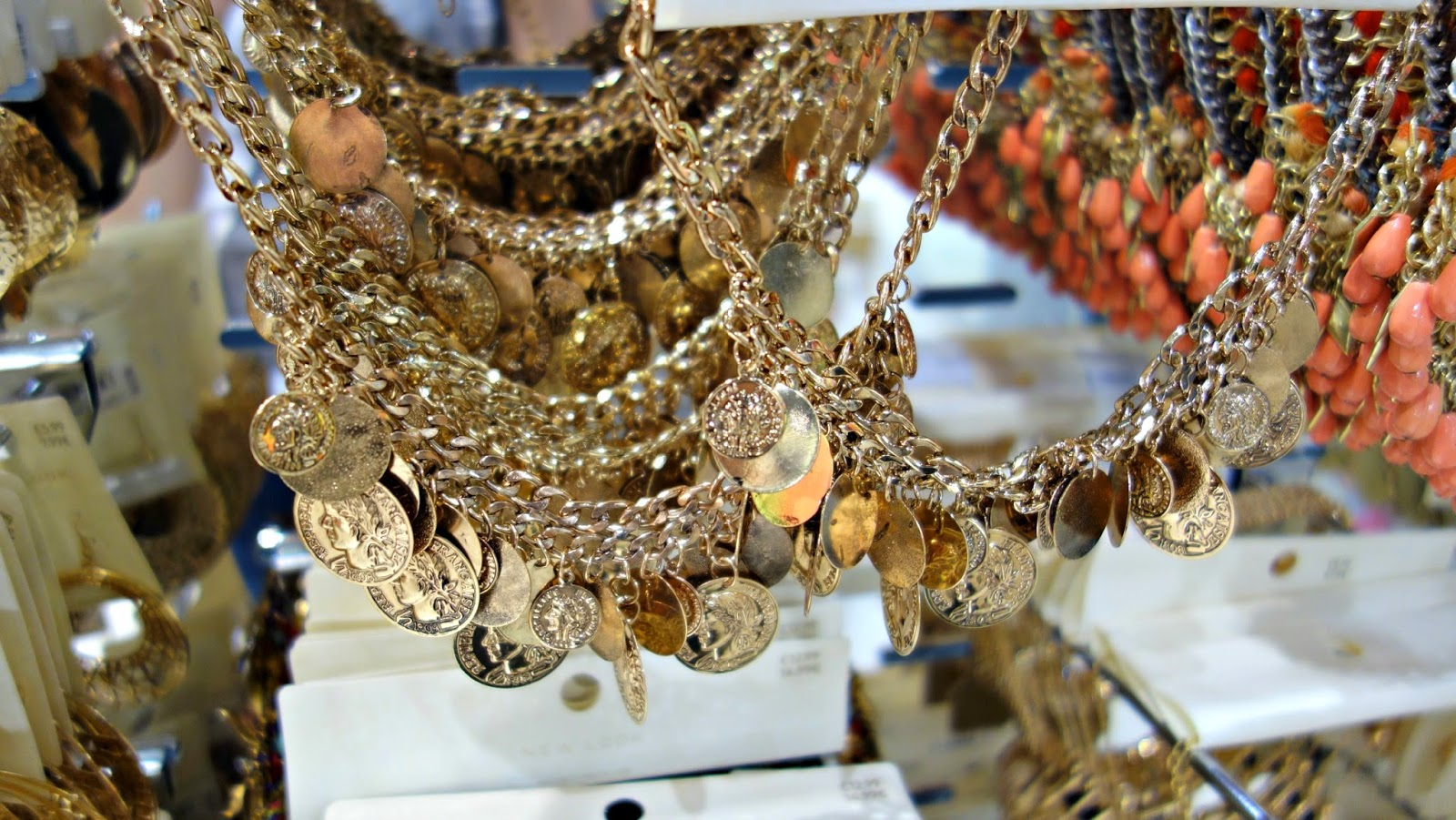 New Look coin necklace