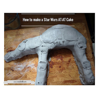 Title image How To Make A Star Wars AT-AT cake