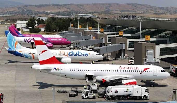 Internationaler Passagierverkehr an mazedonische Flughäfen stieg über 11 Prozent